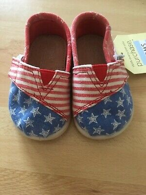 Toms Tiny Classic Size 3 Baby Toddler Kids Canvas Shoes