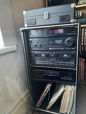 vintage Technics hi fi stereo with speakers,cabinet and turntable