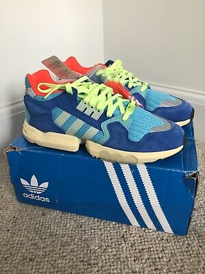 Adidas ZX Torsion Size 10 Cyan Blue Trainers - Brand New