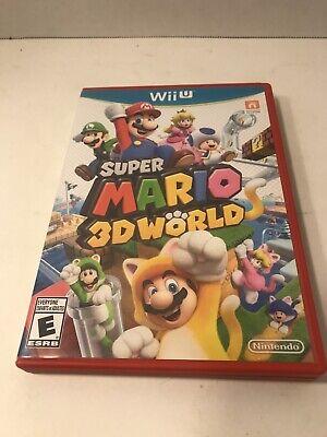 Super Mario 3D World (Wii U, 2013) No Manual