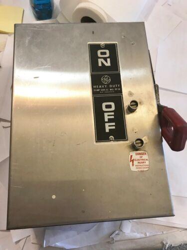 NEW NO BOX GE THN3361SS 30A HEAVY DUTY SAFETY SWITCH 600V 4X MODEL 2 BEST PRICE