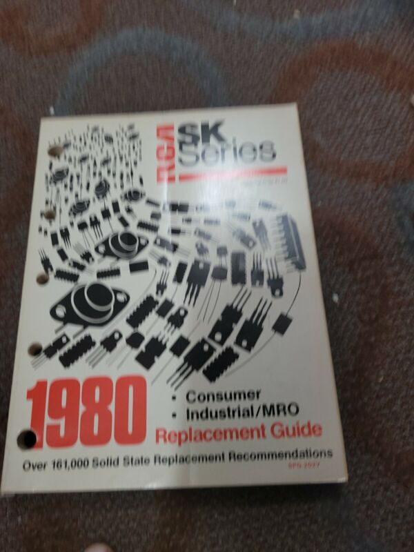 VINTAGE RCA SK Series Solid State Replacement Guide (1980) SPG-202Y PARTS LIST
