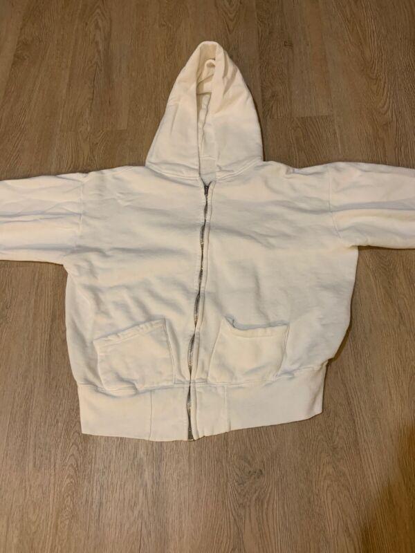 1950's 1960's Zip Up White Hoodie
