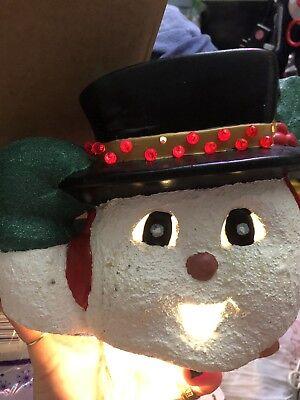 Ceramic Frosty The Snowman Lights Up
