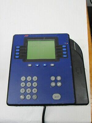 Adp Model 4500 Digital Employee Ethernet Time Clock By Kronos 8602800-801