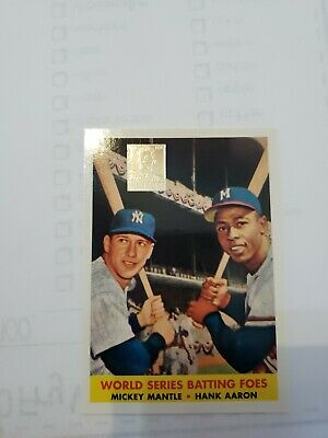 1996 Topps World Series Batting Wars #418 *1958 Mickey Mantle Hank Aaron Reprint