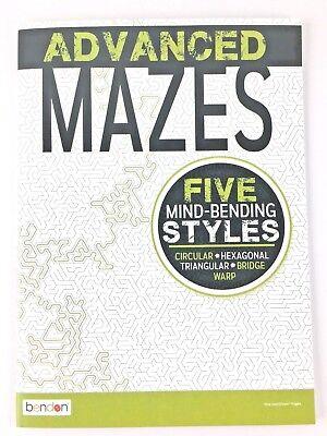 Adult Activity Book Advanced Mazes Challenge Your Brain Five Maze Styles