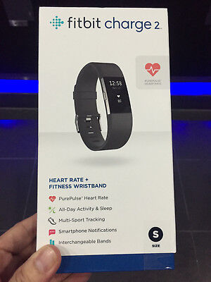 """NEW Fitbit Charge 2 Heart Rate & Activity Tracker - Small (5.5""""–6.7"""") / Black"""
