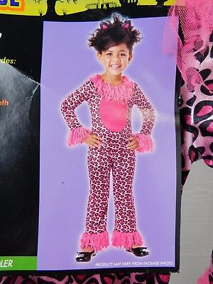 Pink Kitty Cat Infant, Toddler Leopard Halloween Costume Jumpsuit 12-18M #5153