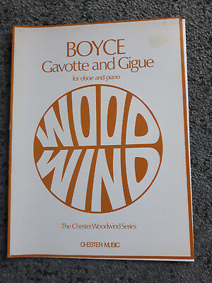 Boyce - 'Gavotte and Gigue' for oboe and piano