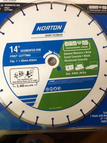 "NORTON SAINT-GOBAIN 14"" FAST CUTTING DIAMOND BLADE. BRAND NE"