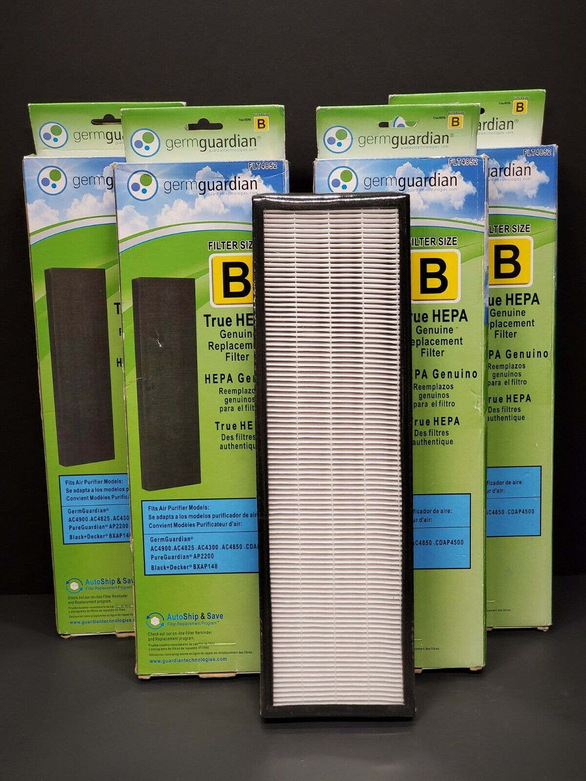 4 Pack - GermGuardian FLT4852 True HEPA Air Purifier Filter B SEALED - $49.00