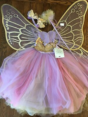 Pottery Barn kids Butterfly Fairy Lavender 7-8 Years Costume #6148