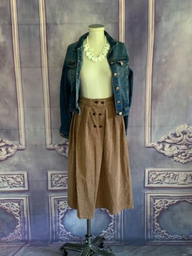 Vintage LERNCRAFT SPORTSWEAR Plush Houndstooth Double Breasted Skirt SMALL Midi