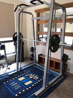 Smith Machine with 75kg of Olympic Rubber Coated Weights Mindarie Wanneroo Area Preview