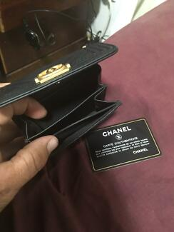 Authentic Chanel purse with serial number card