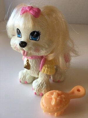 Fisher Price Snap 'N Style Ginger Shih-Tzu Pet Dog Pink Bow & Nails Toy Figure