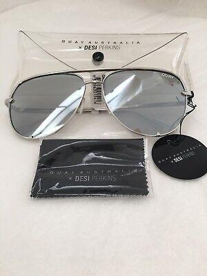 New Quay Australia Aviator Mirrored Women Sunglasses Desi Perkins High (Aviator Sunglasses Australia)