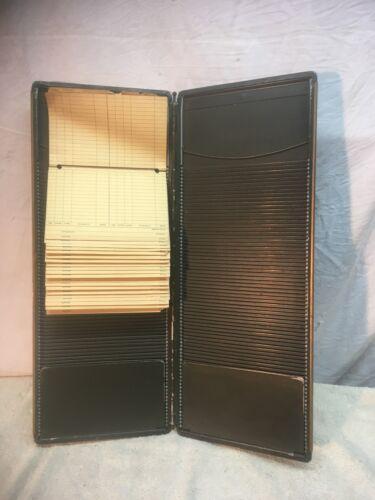 Vintage Metal and Brass Receipt  File Card Holder