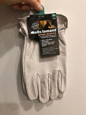 Wells Lamont Xl Goatskin Leather Driver Pearl Gray Gloves