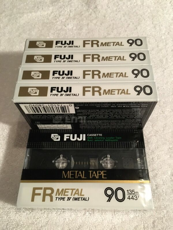 Vintage FUJI FR METAL 90 Cassette Tapes - SET of 5 (NEW / 1982-1984 / RARE !)