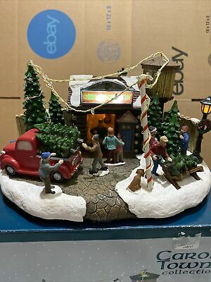 Carole Towne Musical LED Lighted Connor Christmas Tree Lot Plays 8 Songs