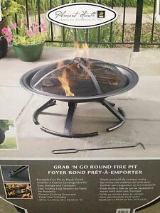 Brand New - Grab 'N Go Round Fire Pit