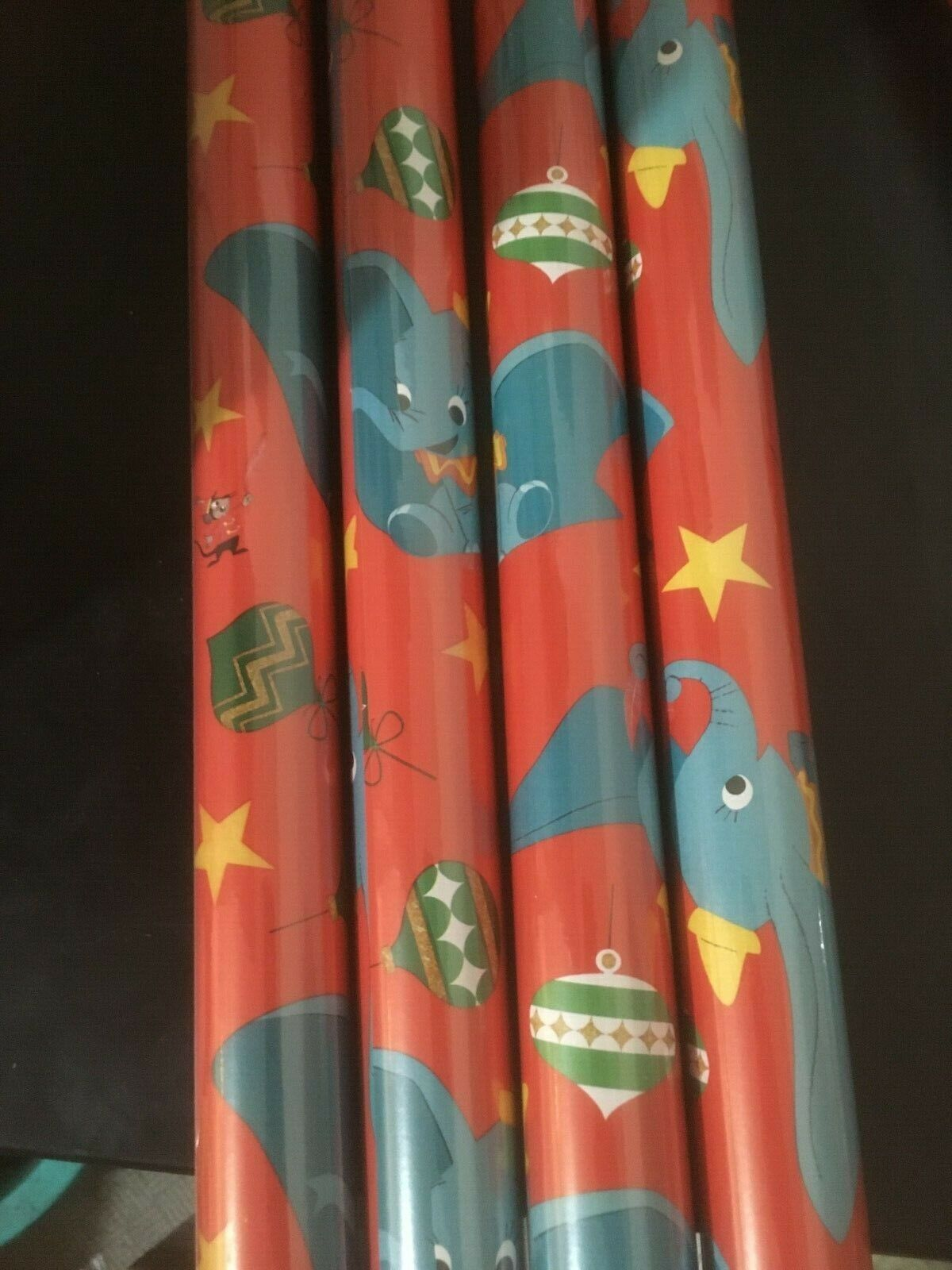 Disney Dumbo GIFT WRAP WRAPPING PAPER ROLL CHRISTMAS Holiday