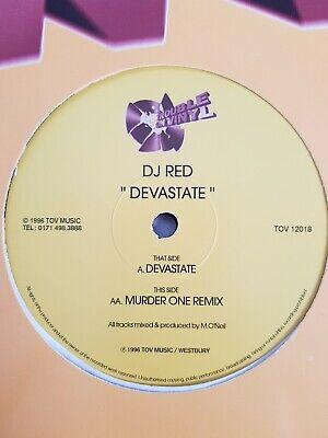 DJ RED - DEVASTATE / MURDER ONE REMIX - TROUBLE ON VINYL - TOV12018 - RARE