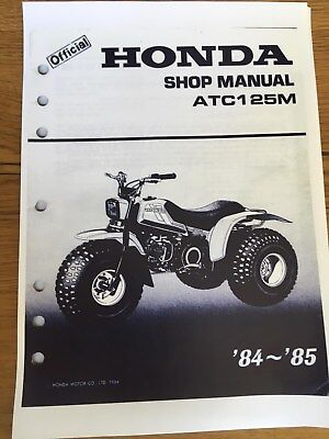 HONDA ATC 125M Workshop Service Manual 1984 - 1985 Paper bound copy
