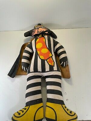Vintage Mcdonalds Hamburgler Plush Doll with Cape