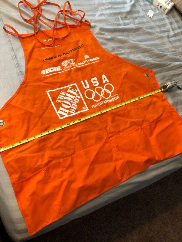Home Depot Orange XL Adult Employee Apron with Pockets olympics