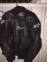 AlpineStar mens leather racing jacket and pants Waterloo Inner Sydney Preview