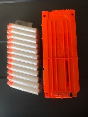 NERF MODULUS FLIP CLIP UPGRADE KIT CLEAN WITH 24 NERF DARTS INCLUDED.