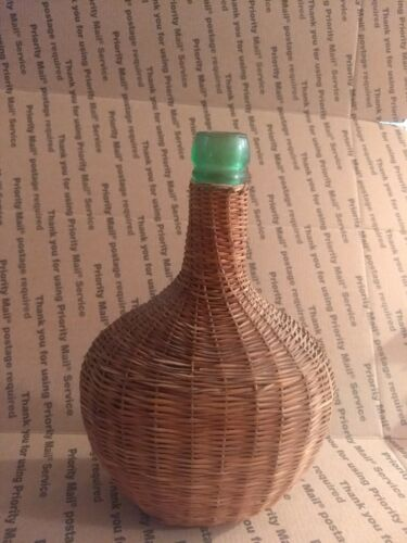 Vintage Wicker?  Rattan?  Covered Bottle  - Very good condition