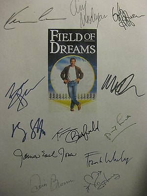 Field of Dreams Signed Film Script Kevin Costner Amy Madigan James Earl Jones rp