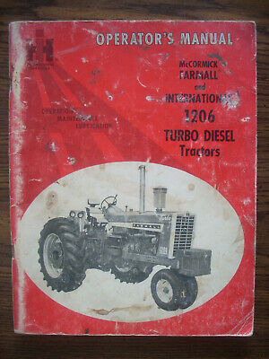 Ih Farmall Mccormick International 1206 Owners Manual