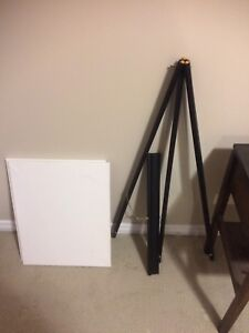 Easel with 2 canvases