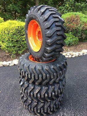 4 New Camso Sks332 12x16.5 Skid Steer Tires Wheelsrims For Bobcat - 12-16.5