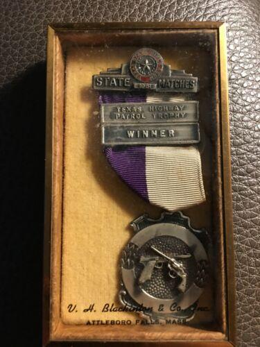 1951 TEXAS HIGHWAY PATROL TROPHY WINNER STATE MATCHES V.H. BLACKINTON