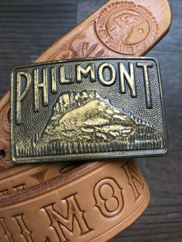 50th Anniversary Vintage Boy Scout PHILMONT Ranch Belt/Buckle Cimarron NM Sz 34