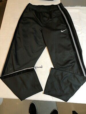 Nike Mens Athletic Pants Small Black Striped Swoosh Track Basketball