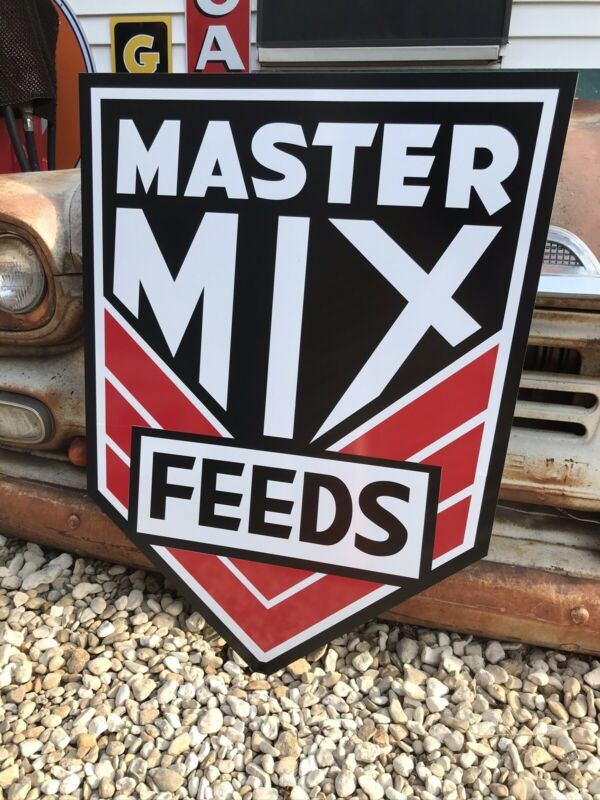 Antique Vintage Old Style Master Mix Feed Seed Farm Sign