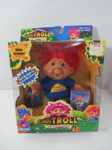 Playmates 2001 Totally troll doll Ollie Grinder Skateboard red hair vintage