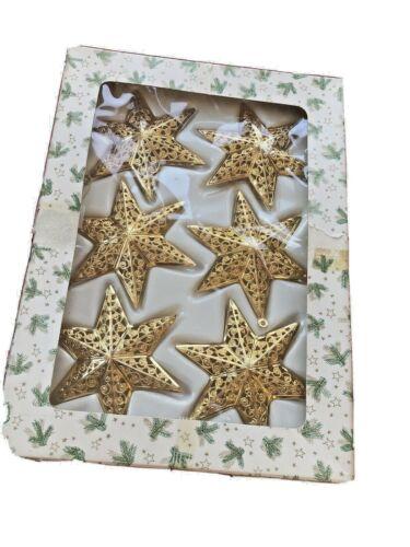 West German Metal Filigree Christmas Star Ornaments Christbaumschmuck Eckartina