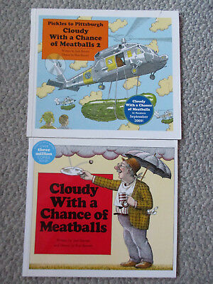 Lot 2 Cloudy with a Chance of Meatballs & Pickles to Pittsburgh Sequel (Cloudy With A Chance Of Meatballs Illustrations)