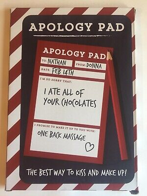Apology Pad. The Best Way To Kiss And Make Up. Funny Notepad. Humour (Best Way To Kiss)