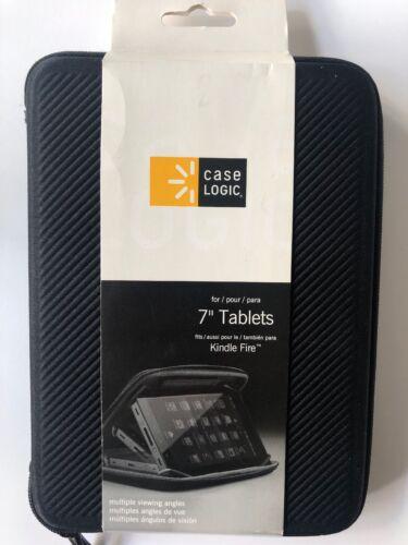 "Case Logic 7"" Tablet Case - Black Electronic Case NEW fits K"