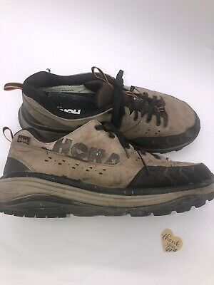 Hoka One One Tor Summit WP Brown Leather Waterproof Trail Running Shoes Men's