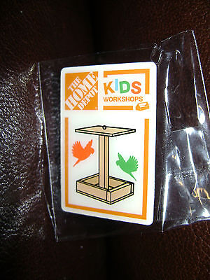 NEW HOME DEPOT KIDS WORKSHOP BIRD FEEDER PIN COLLECTIBLE RARE COLLECTORS